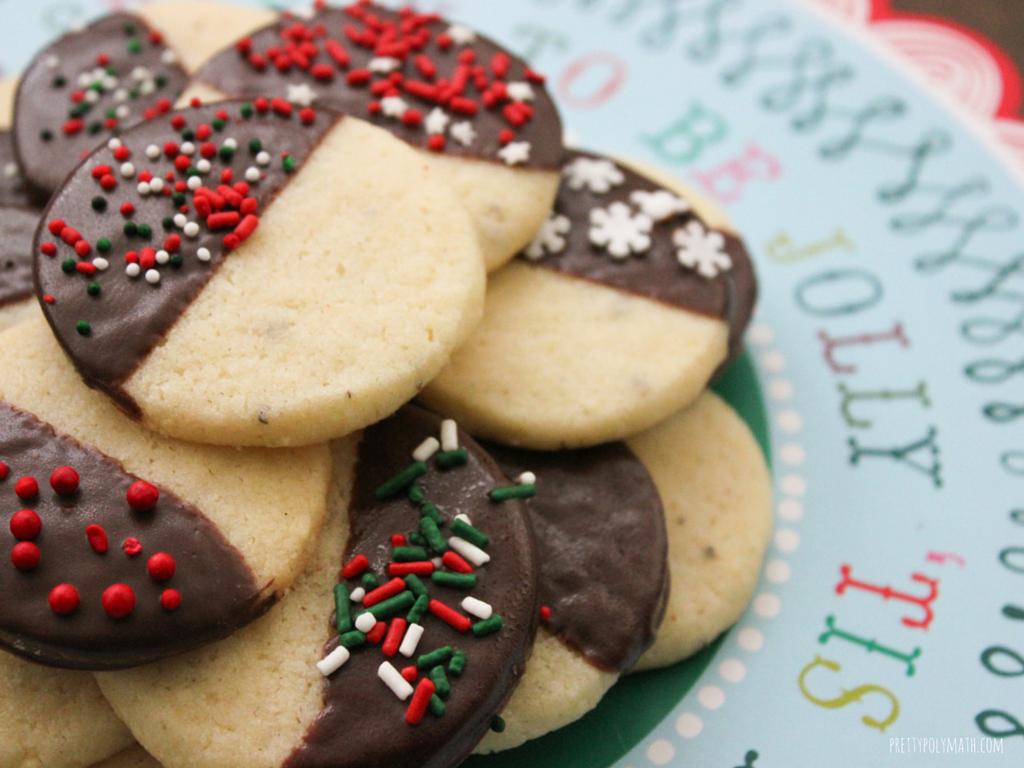 Vanilla Cardamom Shortbread Cookies
