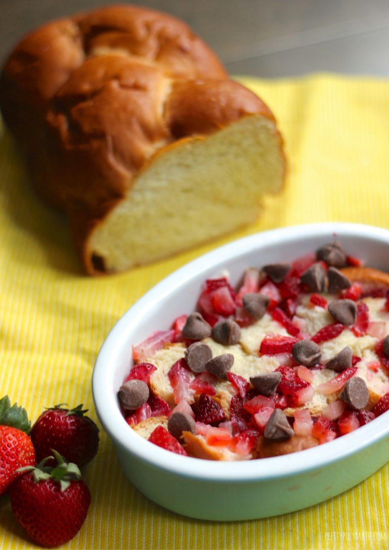 Strawberry and Chocolate Bread Pudding | Milk & Cardamom